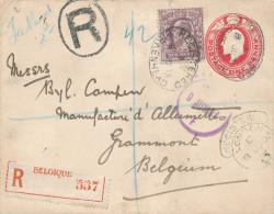417/23 - Allumettes Belgique - Enveloppe Reco BIRKENHEAD Angleterre 1903 Vers Byl Campen , Manufacture à GRAMMONT - Usines & Industries