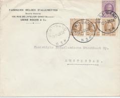 419/23 - Allumettes Belgique - Enveloppe TP Houyoux GENT 1928 - Entete Usine Roche Et Cie , Fabriques à GAND - Usines & Industries