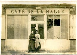 CAFE DE LA HALLE(CARTE PHOTO) - Cafés