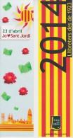 (607) MARQUE-PAGE . BOOKMARK. SIGNET ++ SANT JORDI 2014 - Marcapáginas