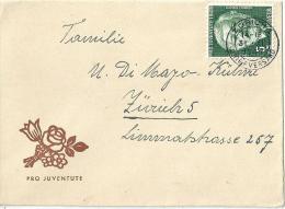 """Pro Juventute Briefli   """"Blumenbouqet""""             1945 - Lettres & Documents"""