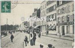 BOULOGNE-SUR-MER - Le Boulevard Sainte-Beuve (animée) - Boulogne Sur Mer