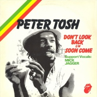 """* 12"""" Maxi Single *  PETER TOSH With MICK JAGGER  -  DON'T LOOK BACK (Holland 1978) - 45 Toeren - Maxi-Single"""