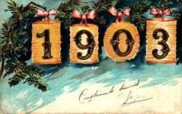 Année Date Millesime - 1903 -  Chiffres Dans Lampions - Anno Nuovo