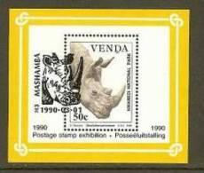VENDA 1990 CTO Block 6 Wildlife # 5352A - Stamps