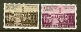 ITALIA 1967 MNH Stamp(s)Roma Treaty 1221-1222 - 6. 1946-.. Republic