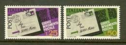 ITALIA 1967 MNH Stamp(s) Postal Codes 1251-1252 - 6. 1946-.. Republic