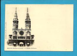 MACON ( Saône-et-Loire ) - L'Église S. Pierre - 1900's PC - France - 2 SCANS - Iglesias Y Catedrales