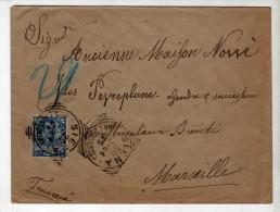 Enveloppe - 1904 - CAD Siena + Marseille - Gori/Peyreplane De Marseille - Affrancature Meccaniche Rosse (EMA)