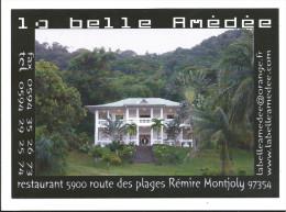 CPM Restaurant La Belle Amédée - Cayenne - Plage De Rémire Montjoly- Plan Au Recto Aéroport De Cayenne Rochambeau - Cayenne