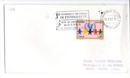 """VOL469 - ITALIA 1972 ,  Giulianova Annullo Targhetta """" Concorso Fotografia .."""" - 1971-80: Storia Postale"""