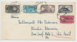 Mexico 1956 Airmail Letter To Munich - Mexico