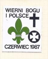 POLAND Polen 1987 Sticker Aufkleber Scouting Pfadfinder - Scouting