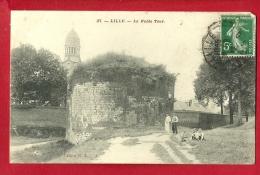 XBM-07  Lille, La Noble Tour,  ANIME. Cachet Frontal 1912 - Lille