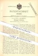 Original Patent - A. Von Voss In Magdeburg , 1894 , Sprengwagen Für Gärtnereien , Gärtner , Landwirtschaft , Garten !!! - Historische Dokumente