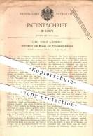 Original Patent - Carl Joseit In Elbing , 1892 , Messen Von Flüssigkeitsständen , Füllstand , Massstab !!! - Historische Dokumente