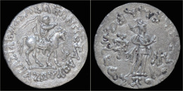 Indo-Scythian Kingdom Azes II AR Tetradrachm - Greche