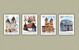 Hungary 2000. Churches Set MNH (**) Michel: 4611-4614 / 1.50 EUR - Hongarije