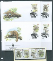 Macau 1995 WWF Pangolin Set 4 MNH & FU On 4 Special FDC - 1999-... Chinese Admnistrative Region