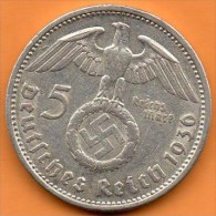 GERMANY  3° REICH    5  MARK 1936 A  Silver / Argent - [ 4] 1933-1945 : Third Reich