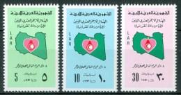 1977 Libia Libya Mappe Maps Mezza Luna Rossa Croissant - Rouge Set MNH** R - Libya
