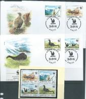 Azerbaijan 1994 WWF Bird Set 4 Both MNH & FU  On 4 Special FDC - Azerbaïjan