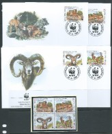 Cyprus 1998 WWF Moufon Set 4 Both MNH & FU  On 4 Special FDC - Unclassified
