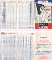 Loto - Résultat 1983 -  (Dépliant 4 Pages) ( 78234) - Jeux De Société
