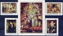 ##H541. Tchad 1978. Paintings. Rubens 400 Years. Michel 835-38 + Bloc 73. MNH(**) - Chad (1960-...)