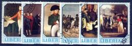+G1377. Liberia 1970. Paintings. Napoléon I. Michel 753-58. Cancelled(o) - Liberia