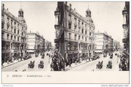 ALLEMAGNE BERLIN FRIEDRICHSTRASSE AVEC ATTELAGES.CARTE STEREOSCOPIQUE BON ETAT - Unclassified