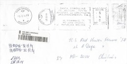 Moldova Moldovei 2014 Chisinau Industry And Construction Commercial Bank Meter Franking Barcoded Registered Domestic - Moldavië