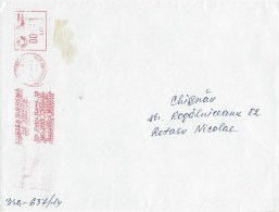 Moldova Moldovei 2014 Chisinau Unrecorded Meter Franking Supreme Justice Court Domestic Cover - Moldavië