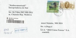 Moldova Moldovei 2015 Chisinau Caracul Sheep Farm General Military Politician Barcoded Registered AR Domestic Cover - Moldavië