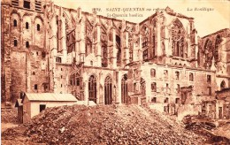 CPA - SAINT-QUENTIN - La Basilique En Ruine - St. Quentin En Yvelines