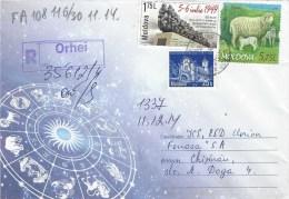 Moldova Moldovei 2014 Orhei Tigaie Sheep Farm Deportation Registered AR Domestic Cover - Moldavië