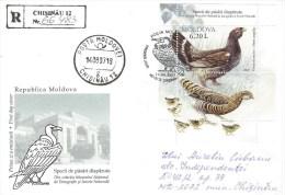 Moldova Moldovei 2007 Chisinau Wood Grouse Miniature Sheet Registered FDC Cover - Grey Partridge