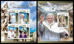 SOLOMON Isl. 2015 - Pope Benedict XVI. M/S + S/S - Papas
