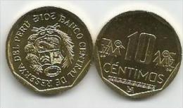 Peru 10 Centimos 2012. UNC - Peru