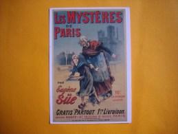 Cpm PUBLICITAIRE  -  Affiche  Anonyme -  Les Mystères De Paris Par Eugène SUE - Illustrateurs & Photographes
