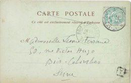 MONT-SAINT-MICHEL Le 29 Mars 1905 N°111 Pour Bois-Colombes + Cachet Boite Urbaine A - CP Abbaye Mont-Saint-Michel - 1877-1920: Periodo Semi Moderno