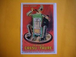 Cpm PUBLICITAIRE  -  Affiche  De Henry Le Monnier  -  Le Poële CRESU FAURE  -  Art Ménager - Autres Illustrateurs