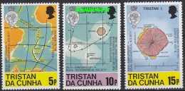 Tristan Da Cunha 1980 Maps 3v ** Mnh (21953) - Tristan Da Cunha