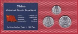 China Minisatz Mit 1,2 + 5 Fen 2010, 1988, 1986 In Bilster, UNC. - Chine
