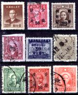 """Cina-037 - Valori """"Sun Yat Sen"""" E Soprastampati. - China"""