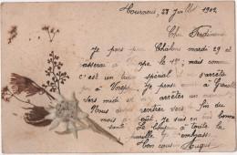 CPA 04 Fait Main Edelweiss écrite De TOURNOUX En 1902 Cachet Condamine Chatelard - Non Classés