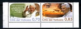 2013 - VATICANO - VATICAN - I VIAGGI DI PAPA BENEDETTO XVI NEL MONDO − 2012 - Serie Da Libretto -  MINT - NH - Nuovi