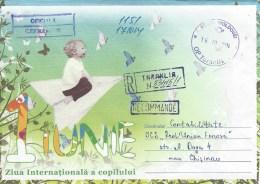 Moldova Moldovei 2014 Taraklia Unfranked Official Service Domestic Registered Cover - Moldavië