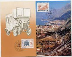 YUGOSLAVIA 1983 Postal Transport  On 2 Maximum Cards.  Michel 1989-90 - Maximum Cards