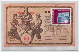 YUGOSLAVIA 1984 Slovene Monetary Institute 5d On Maximum Card.  Michel 2043 - Maximum Cards